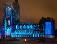 Lumière intemporelle : Projections sur la cathédrale de Strasbourg