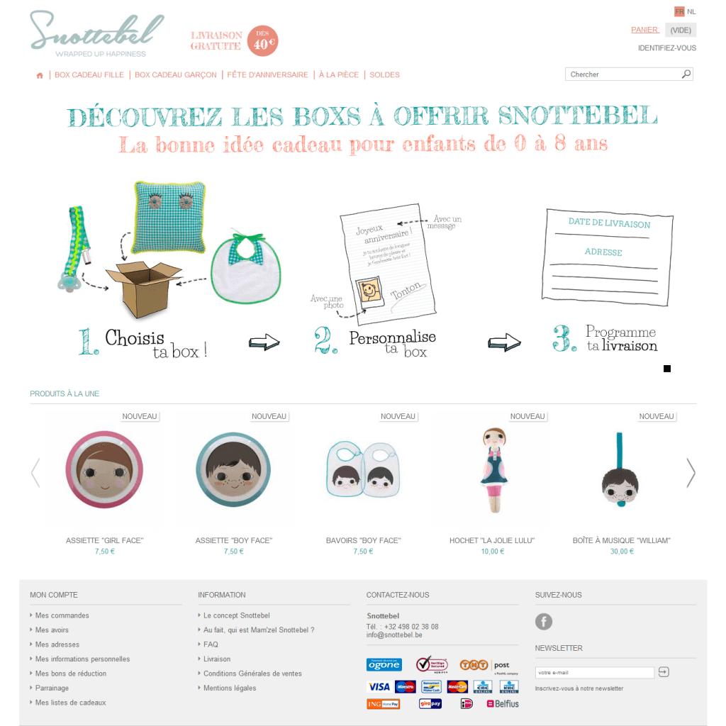 Snottebel le site de cadeaux pour enfants de 0 à 8 ans Snottebel
